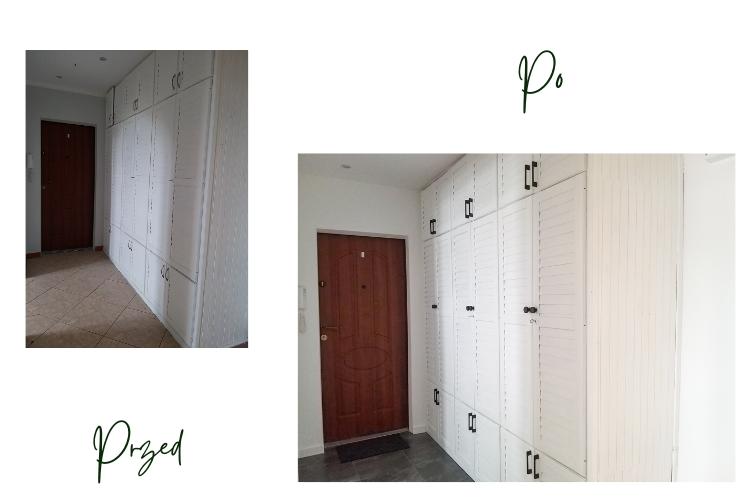 janiszewska marta-suwałki-jak przygotować mieszkanie dowynajęcia-jasne wnetrza-jasna baza-szybka metamorfoza przedpokoju-wąski korytarz wbloku-metamorfoza szafy