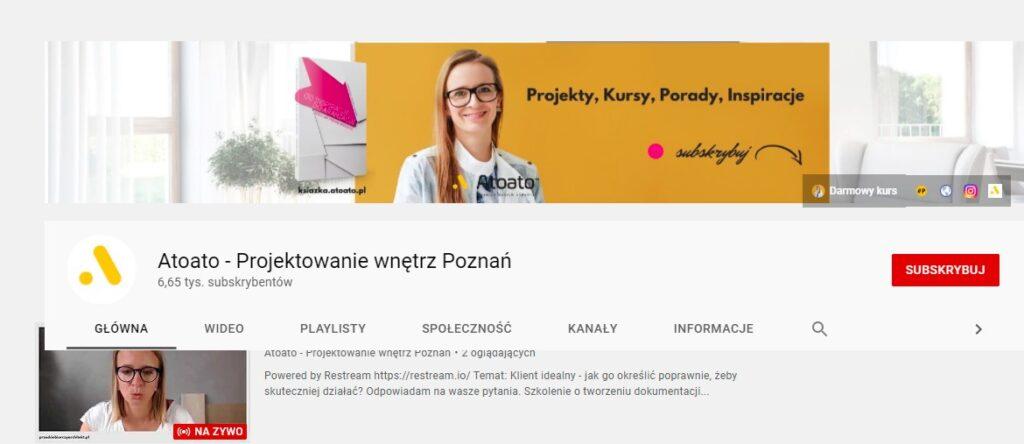 janiszewska marta-suwałki-najlepsze kanały wnetrzarskie naYoutube-studio atoato