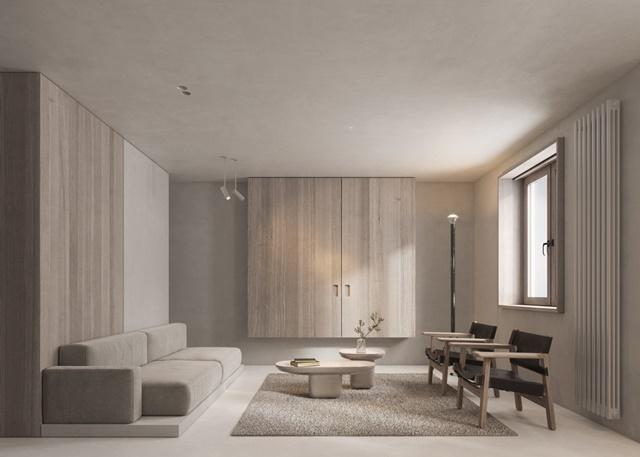 ruda chata-blog-minimalizm wewnętrzach-jasny salon-minimalistyczny salon zjasnym drewnem-nowoczesny stolik