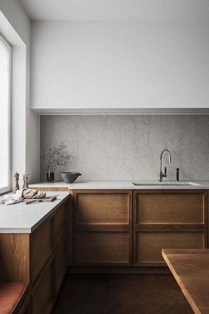 ruda chata-blog-minimalizm wewnętrzach-minimalistyczna kuchnia-biało drewniana kuchnia