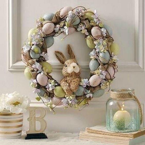 ruda chata-blog-wiosenne iwielkanocne dekoracje domu-wieniec wielkanocny