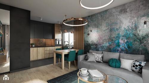 ruda chata-blog-oddzielic kuchnię odsalonu-stół między kuchnią isalonem-loftowe mieszkanie-drewniano czarna kuchnia-przestrzenie
