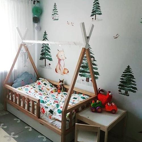 ruda chata-blog-łóżeczko dla dziecka-tipi-drewniane-lozeczko-dzieciece-bialo-naturalne
