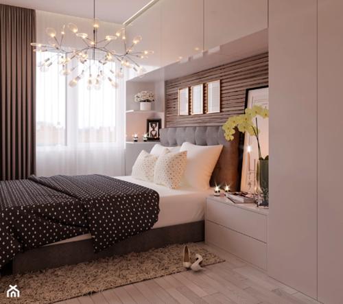 ruda chata-blog-pomysl nasciane zalozkiem-zabudowa załóżkiem-drewniane lamelki-jasna nowoczesna sypialnia-perfect design
