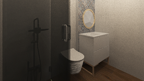 projekt łazienka trzy pokojowe mieszkanie zamiastem