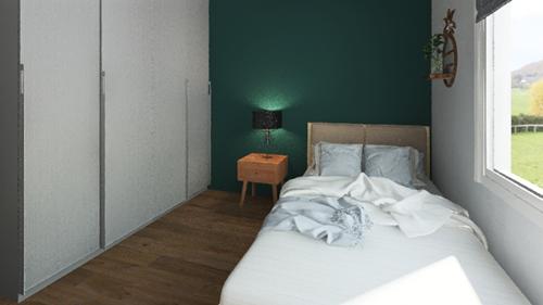 projekt sypialnia trzy pokojowe mieszkanie zamiastem
