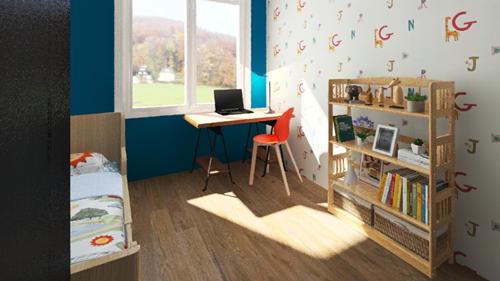 projekt pokoj dziecka trzy pokojowe mieszkanie zamiastem