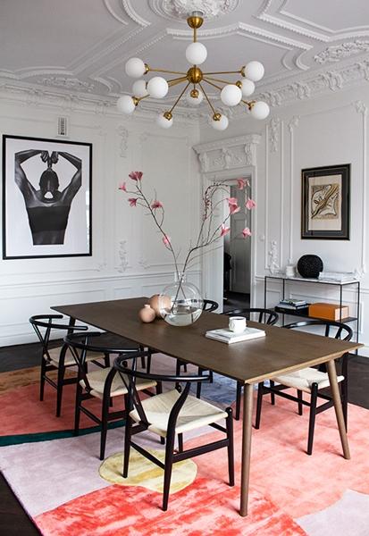 ruda chata-blog-wybór dywanu-dywan dojadalni-kolorowy dywan-klasyczne wnętrze
